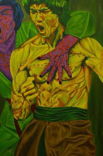Malerei, Farben, Figur, Brucelee