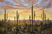 Wüste, Saguaro, Arizona, Yoshua tree
