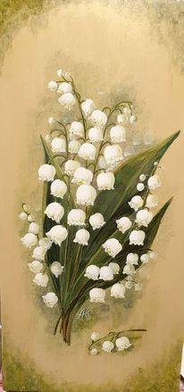 Lilie, Maiglöckchen, Blumen, Tal