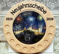 Nacht, Neujahr, Zielscheibe, Marienberg