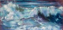 Welle, Blau, Wasser, Schaum