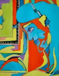 Rot, Malerei, Abstrakt, Temperamalerei