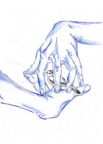 Aquarellmalerei, Hand, Surreal, Vogel
