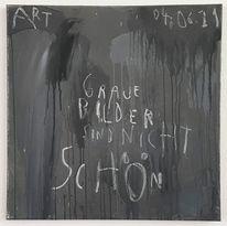 Malerei, Nicht schön, Grau, Schön