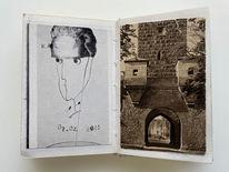 Portrait, Buch, Buchkunst, Mischtechnik