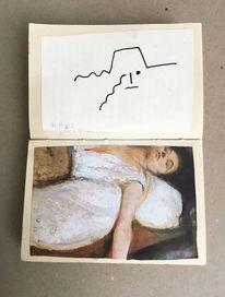 Monika, Portrait, Buch, Buchkunst