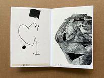 Buch, Zeichnung, Mischtechnik,