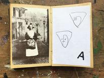 Portrait, Großmutter, Zeichnungen,
