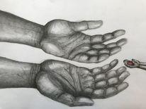 Weiß, Herz, Vertrauen, Bleistiftzeichnung