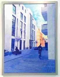 Malerei, Acrylmalerei, Straße,