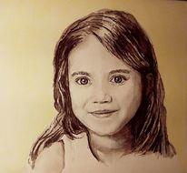 Kopf, Mädchen, Augen, Malerei