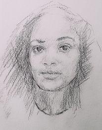 Gesicht, Frau, Portrait, Zeichnungen