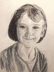 Portrait, Mädchen, Gesicht, Zeichnungen