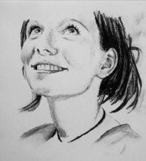 Mädchen, Gesicht, Lachen, Zeichnungen