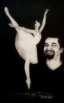 Ballett, Portrait, Malerei,