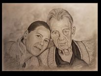 Menschen, Portrait, Zeichnung, Familie