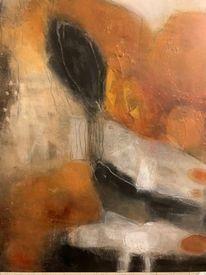 Wachs, Tuschmalerei, Malerei, Abstrakt