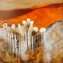 Malerei, Abstrakt, Landschaft malerei