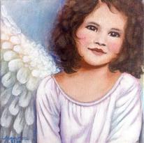 Modern art, Engel, Geburt, Malerei