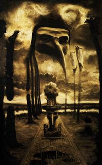 Schwarz, Zeichnung, Modern art, Kohlezeichnung