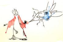 Kleid, Biene, Angriff, Rüssel