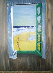 Malerei, Acryl acrylmalerei, Malerei acryl, Meer