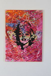 Gold, Abstrakt, Portrait, Pop art