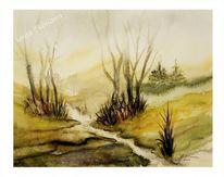 Aquarellmalerei, Eifel, Landschaft, Malerei