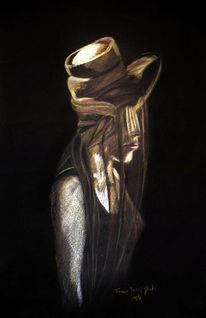 Buntstiftzeichnung, Farben, Portrait, Zeichnung