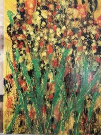 Modern art, Blumen, Abstrakt, Malerei