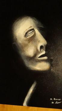 Menschen, Schwar, Modern art, Malerei