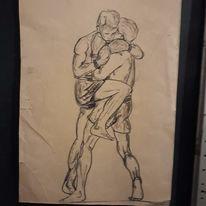 Modern art, Menschen, Schwarz, Zeichnungen