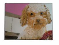 Kleiner hund, Malerei, Tiere,