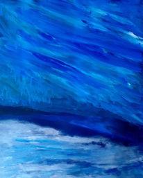 Gischt, Blau, Meer, Malerei