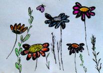Blumen, Pflanzen, Frühling, Malerei