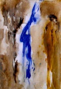 Luftikus, Braun, Blau, Malerei