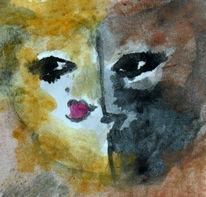 Frau, Herz, Mann, Malerei