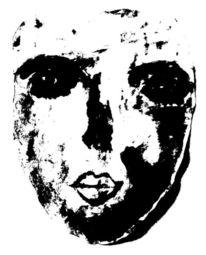 Maske, Schwarz, Weiß, Malerei