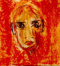 Rot, Gelb, Portrait, Malerei