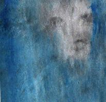 Ausdruck, Schemenhaft, Gesicht, Malerei