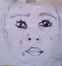 Tränen, Portrait, Gesicht, Malerei
