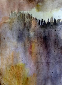 Landschaft, Berge, Wipfel, Malerei