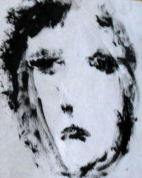 Portrait, Frau, Schwarz, Weiß
