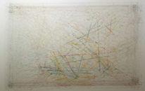 Linie, Abstrakt, Farben, Mischtechnik