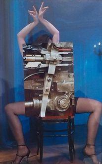 Collage, Collag, Mischtechnik,