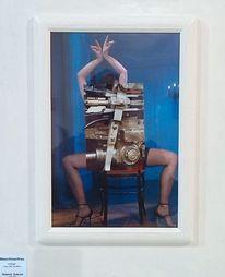 Wandobjekt, Collage, Mischtechnik