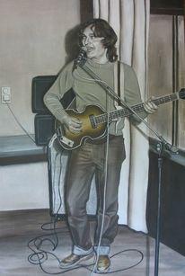Musiker, Menschen, Weiß, Malerei