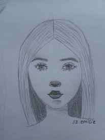 Anfänger, Bleistiftzeichnung, Portrait, Gesicht