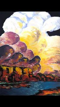 Ölmalerei, Meer, Malerei, Acrylmalerei