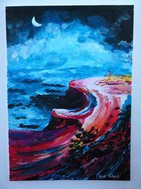 Acrylmalerei, Meer, Blühen, Farben